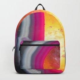 Pink Geode Glow Backpack