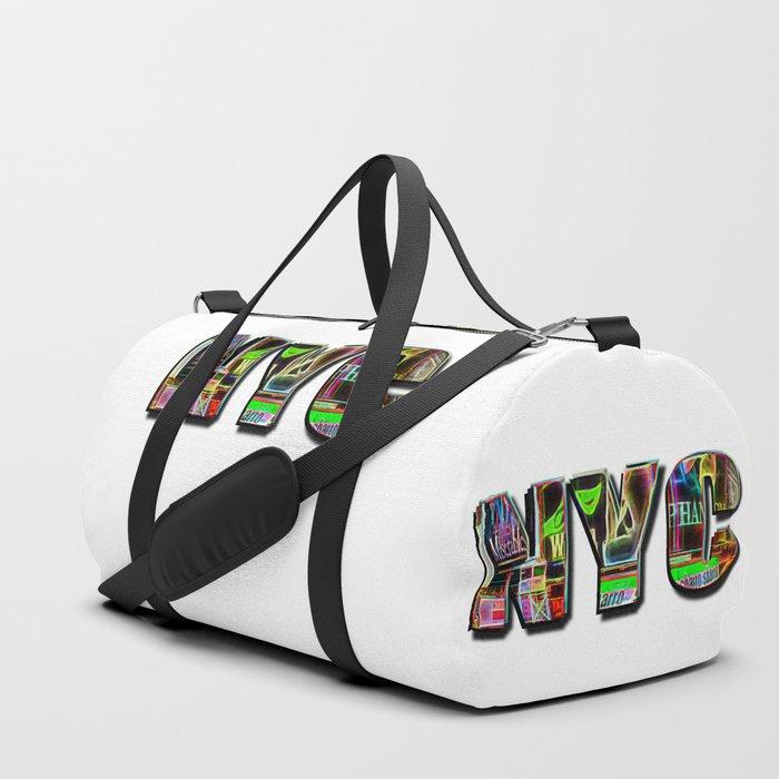 NYC (typography) Duffle Bag