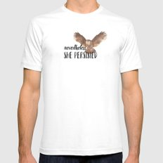 Nevertheless She Persisted - It's in Our Nature. SMALL White Mens Fitted Tee