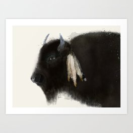 native buffalo Art Print