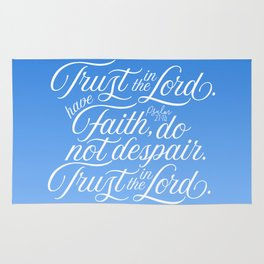 Trust in the Lord - Christian Rug