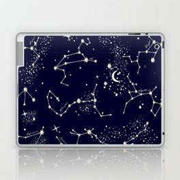 Zodiac Constellations in Night Navy Laptop & iPad Skin