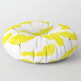 Yellow Poppy White Background #decor #society6 #buyart Floor Pillow