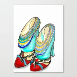 funky shoes Canvas Print