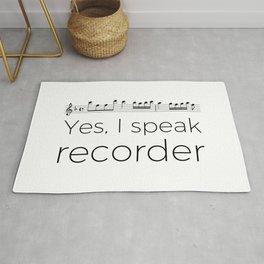 I speak recorder Rug