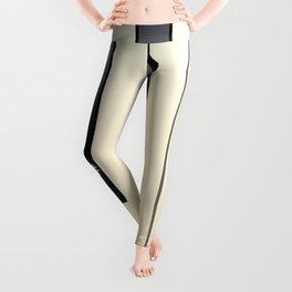 Piano Keys Note Names Leggings