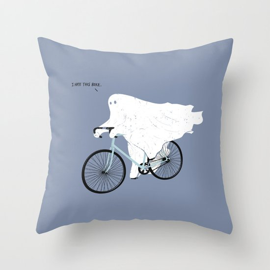 Negative Ghostrider. Throw Pillow