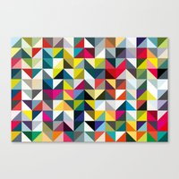 book cover Canvas Prints featuring 100 book cover colours by Coralie Bickford-Smith