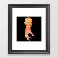 HAND FACE SKIN Framed Art Print