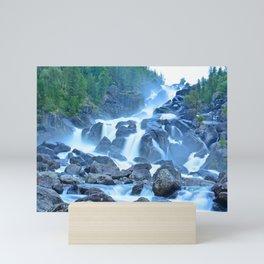 Uchar Waterfall on the Chulcha River, The Big Chulchinsky. Altai, Russia Mini Art Print