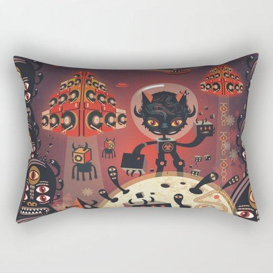 DJ Hammerhand cat - party at ogm garden Rectangular Pillow