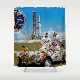 Apollo 17 - Prime Crew Portrait Shower Curtain