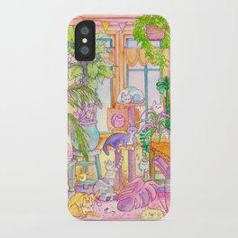 Plants & Cats iPhone Case