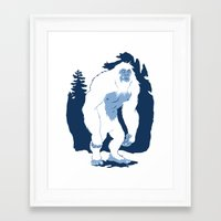 yeti Framed Art Prints featuring Yeti by Rachel Young