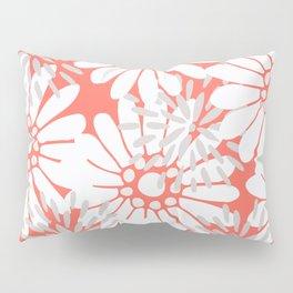 Summer Flowers Living Coral Pillow Sham