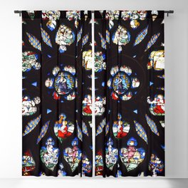 Stained glass sainte chapelle gothic Blackout Curtain