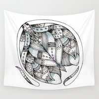 moth Wall Tapestries featuring Moth by Maria Velik