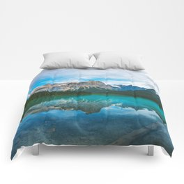 The Mountains and Blue Water - Nature Photography Comforters