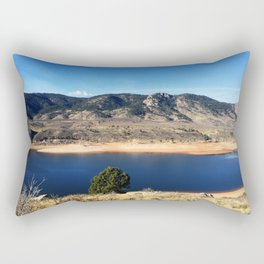 Horsetooth Reservoir Fort Collins Colorado Color Photo Rectangular Pillow