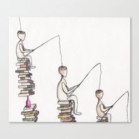 philosophy Canvas Prints featuring The philosophy by  Nikolay Ampilogow