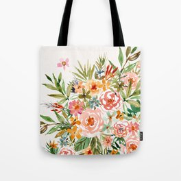 SMELLS LIKE LOVE IN ALL FORMS Floral Tote Bag