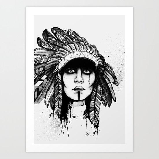 Look Inside - Black and White Art Print