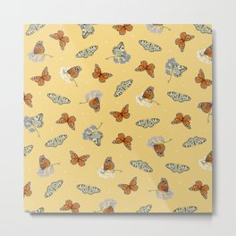 Butterfly Array Metal Print