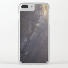 Shooting stars and the Milkyway Clear iPhone Case