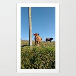 I'm just a cow Art Print