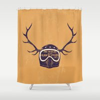 into the wild Shower Curtains featuring wild by The Junkers
