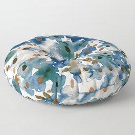Georgia Floral Blue Floor Pillow