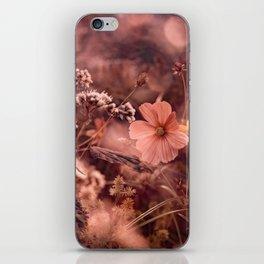 Rust and Blush NC Wildflowers iPhone Skin