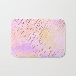 Pastels In Gold Stipes Bath Mat