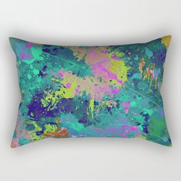 Messy Art I - Abstract, paint splatter painting, random, chaotic and messy artwork Rectangular Pillow