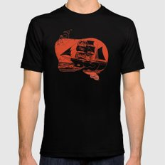 Moby Dick Mens Fitted Tee Black 2X-LARGE