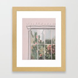 Victorian Greenhouse Watercolor Framed Art Print