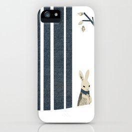 Winter Scene with Rabbit (Chasing the White Rabbit) iPhone Case