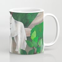 wolves Mugs featuring wolves by Chiara Martinelli Creations