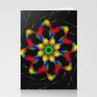 fractal Stationery Cards featuring Fractal by Marisa Lopez-Cruzan