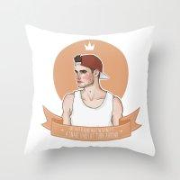 liam payne Throw Pillows featuring Liam Payne by vulcains