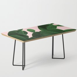 Cactus On Pink Coffee Table