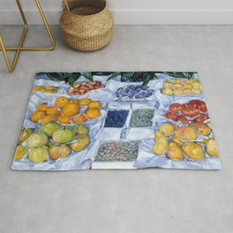 Fruit Displayed On A Stand - Digital Remastered Edition Rug