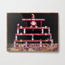 Retro Gaming Painting Pixel Art Metal Print