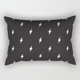 Lightning Bolt Pattern Black & White Rectangular Pillow