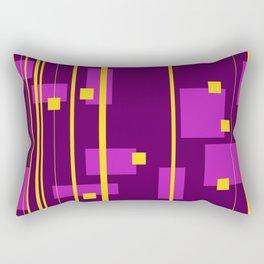 Geometry Design Yellow - Violet Rectangular Pillow