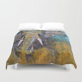 African Elephant Bull Duvet Cover