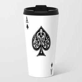 Ace Spades Spade Playing Card Game Minimalist Design Travel Mug