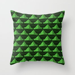 Paper Hats Pattern | Green Throw Pillow