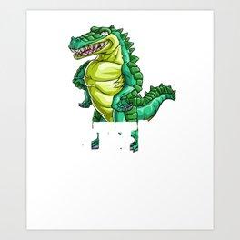 Crocodile Little Brother Alligator Reptile Animal Art Print