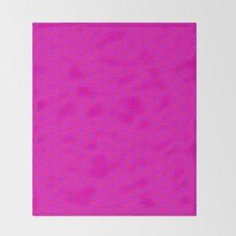 fluor pink hexagonal patern Throw Blanket
